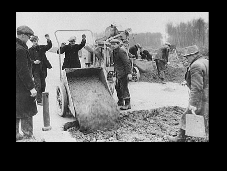 Concrete Runways under construction WWII