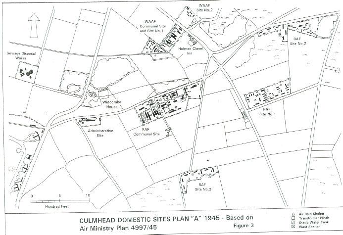 Map of RAF Culmhead