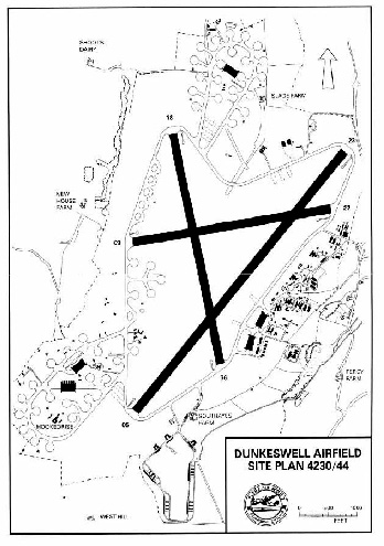 Map of Dunkeswell Airfield