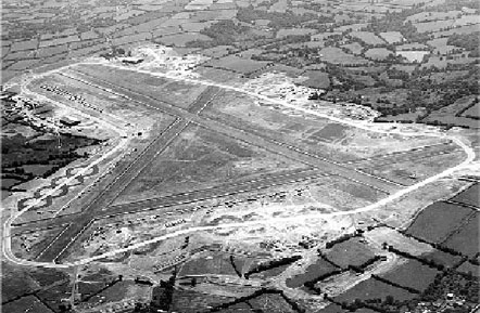 Upottery from the air in 1945